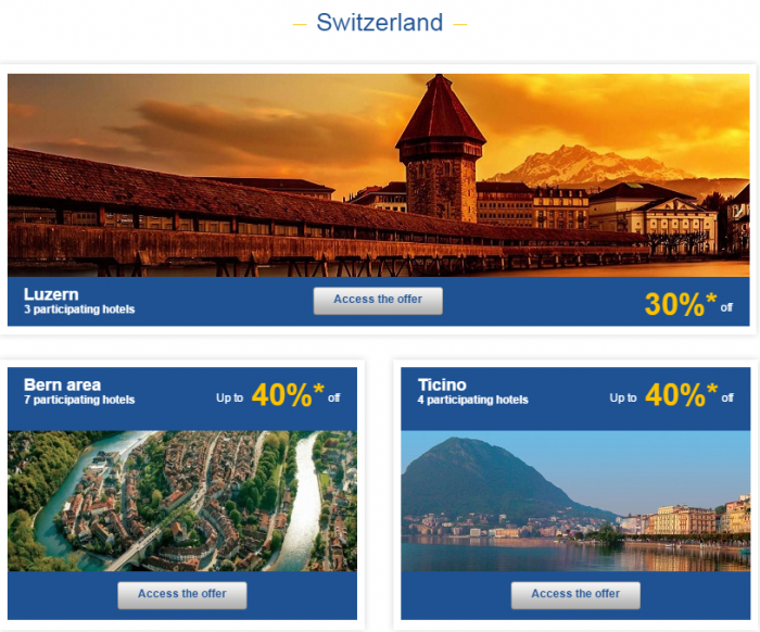 Le Club AccorHotels Weekly Private Sales March 22 - 28 2016 Switzerland 1