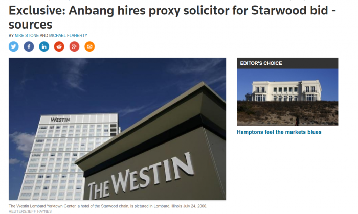 Reuters Starwood