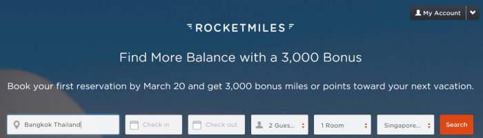 Rocketmiles March 3,000 Bonus Miles All Partners
