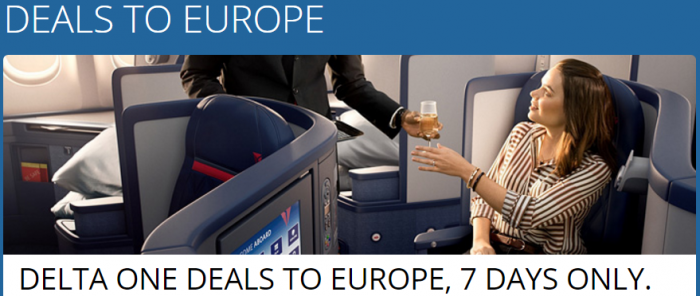 Delta Air Lines Europe Business Class Awards