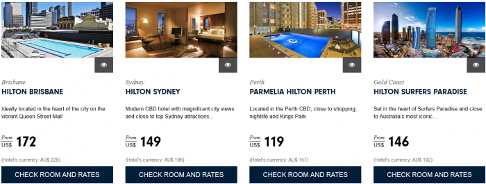Hilton HHonors Asia Pacific Website Australia 1