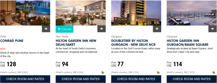 Hilton HHonors Asia Pacific Website Greater Southeast India 1