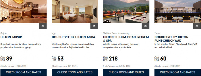 Hilton HHonors Asia Pacific Website Greater Southeast India 2