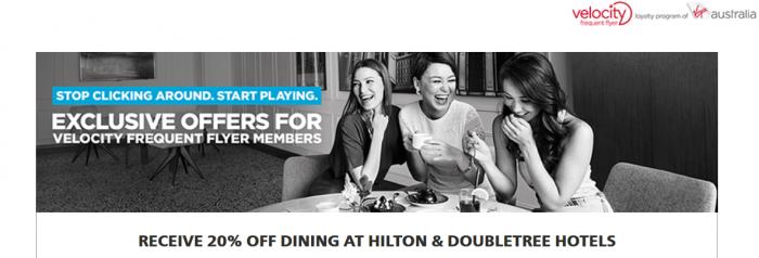 Hilton HHonors Virgin Australia Velocity April 2016