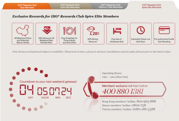 IHG Rewards Club China Member Rate Benefits