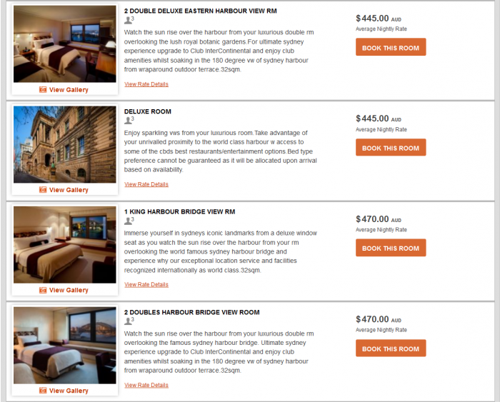 IHG Rewards Club InterContinental Ambassador Free Weekend Night Booking Link Rate Preference IC Sydney 3