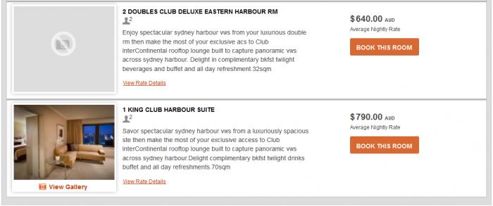 IHG Rewards Club InterContinental Ambassador Free Weekend Night Booking Link Rate Preference IC Sydney 6