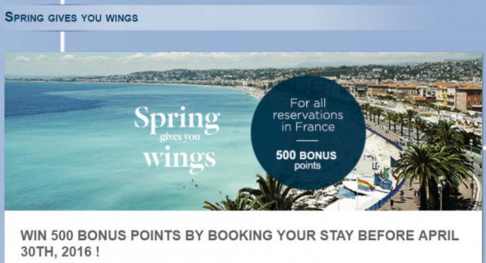 Le Club AccorHotels France 500 Bonus Points May 31 2016