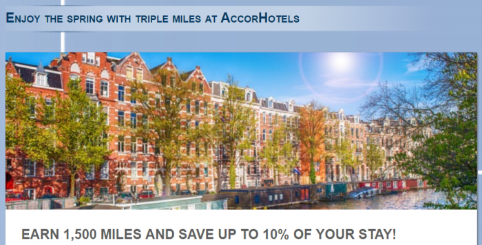 Le Club AccorHotels Lufthansa Miles&More 1,500 Miles Per Stay April 1 - May 31 2016