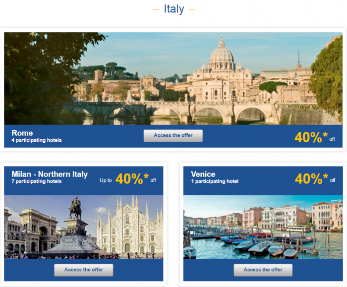 Le Club AccorHotels Weekly Private Sales April 12 - 18 2016 Italy 1