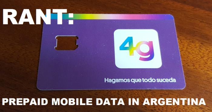 RANT Mobile Data In Argentina