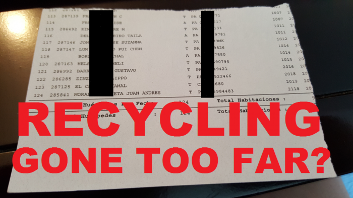 Recycling Gone Too Far
