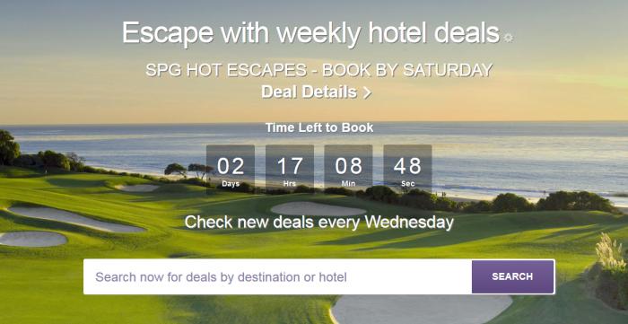 SPG Hot Escapes April 6 - 9 2016