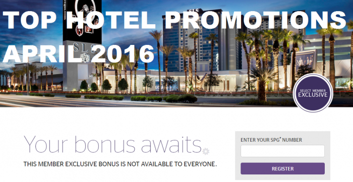 Top Hotel Promotions April 2016