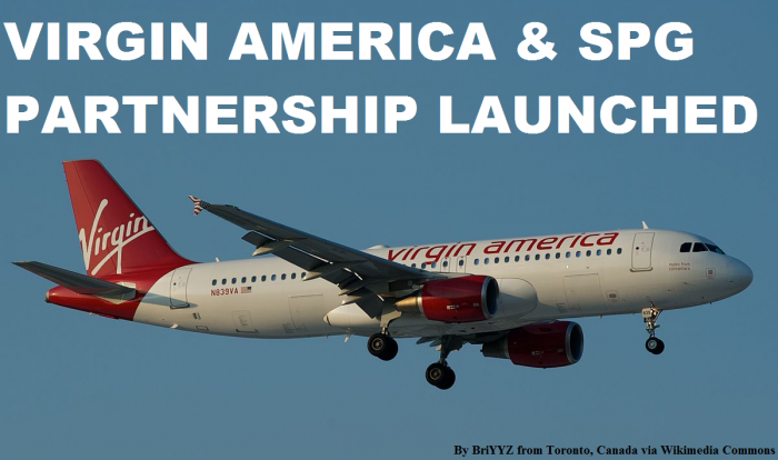 Virgin America Starwood Preferred Guest SPG Partnership