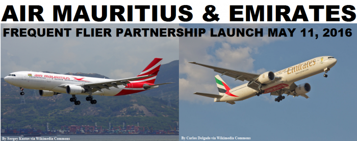 Air Mauritius & Emirates Frequent Flier Partnership Launch May 11 2016