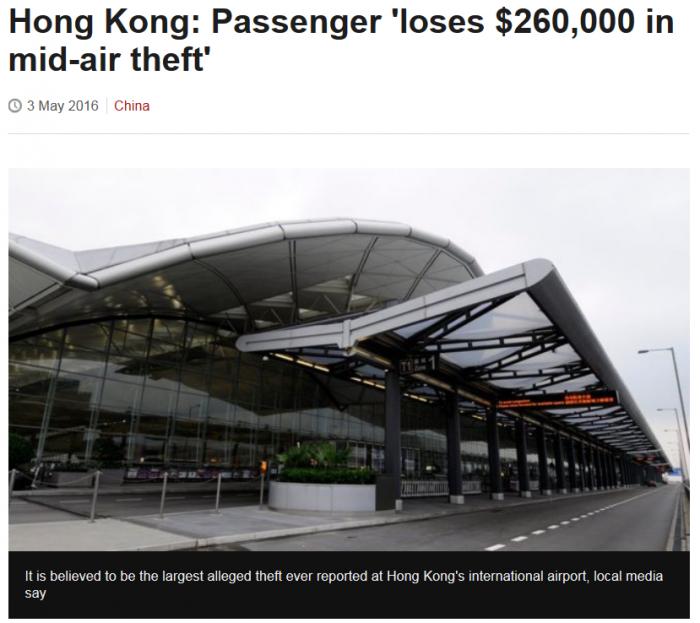 Emirates DXB-HKG Theft
