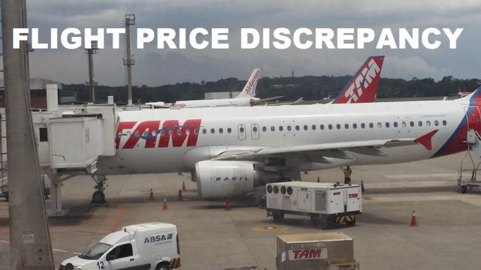 Flight Price Discrepencency U