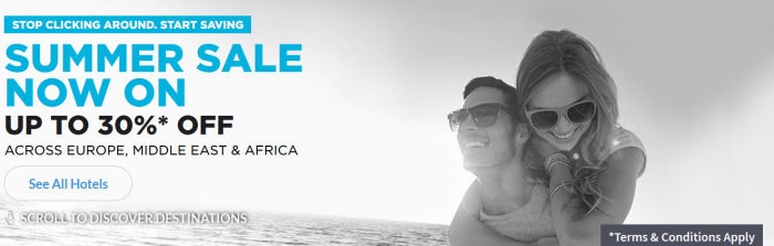 Hilton HHonors Europe Middle East & Africa Up To 30 Percent Off Summer Sales
