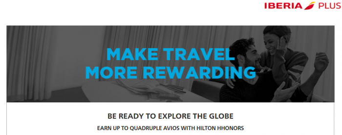 Hilton HHonors Iberia Plus Up To Quadruple Avios May 12 - August 31 2016 U