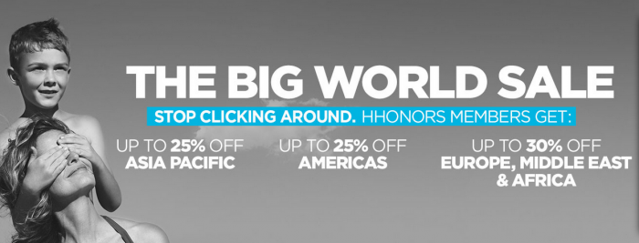 Hilton HHonors Up To 25 Percent Off Americas Sale May 17 - September 6 2016