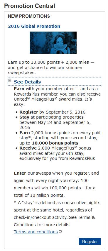 Marriott Rewards 2016 Global Promotion Offer