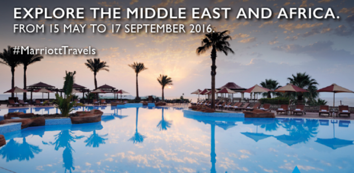 Marriott Rewards Middle East & Africa 3 For 2 May 15 - September 17 2016