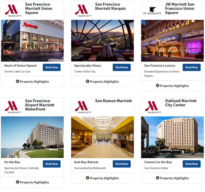 Marriott Rewards Northern California 5000 Bonus Points Weekends June 5 2016 1