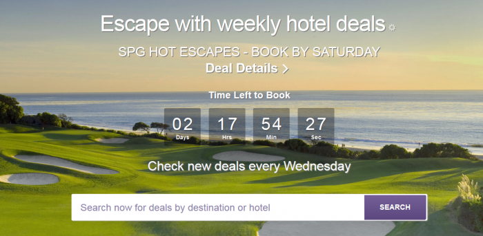 SPG Hot Escapes May 5 - 7 2016