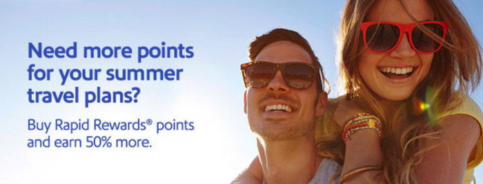 Southwest Airlines Buy Rapid Rewards Points 50 Percent Bonus