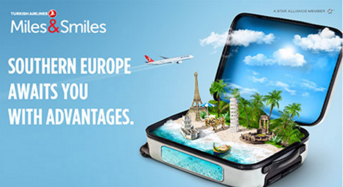Turkish Airlines Southern Europe Bonus Miles & Award Discount May 12 - June 30 2016