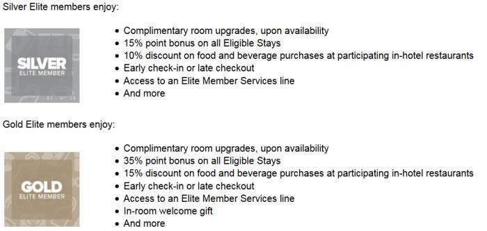 Club Carlson Status Match Benefits