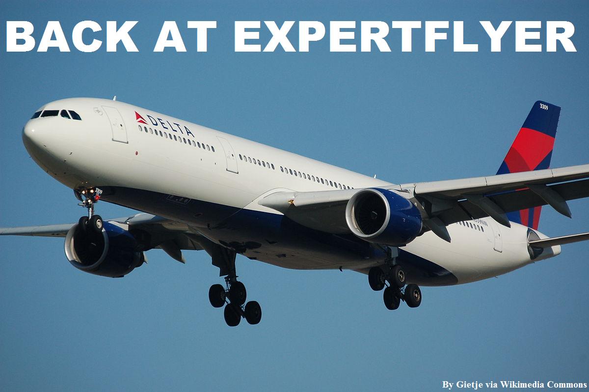 ExpertFlyer Delta Air Lines Data