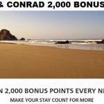 Hilton HHonors Waldorf-Astoria & Conrad 2,000 Bonus Points Per Night Until December 31 2017