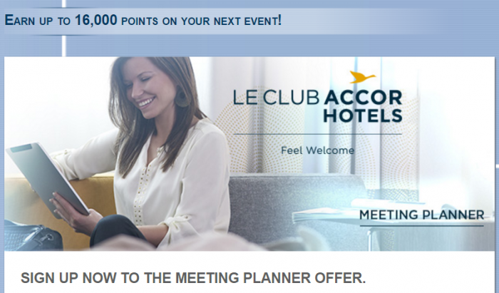 Le Club AccorHotels Meeting Planner Sign Up Offer