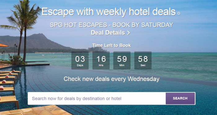 SPG Hot Escapes June 15 - 18 2016