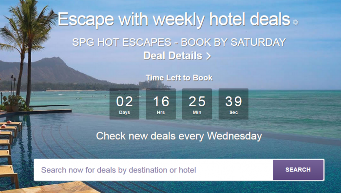 SPG Hot Escapes June 29 - July 2 2016