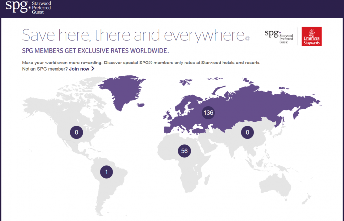 SPG Your World Rewards Up To 30 Percent Off Europe & AFrica