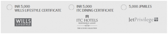 Starwood Preferred Guest India Your Choice Rewards June 20 - September 30 2016 Rewards