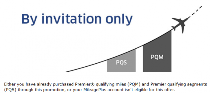 United Airlines MileagePlus Premier Qualifying Miles & Segments Sale