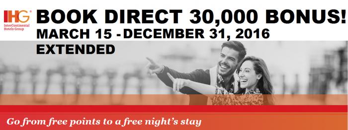 EXTENDED IHG Rewards Club 30,000 Bonus Asia Middle East Africa