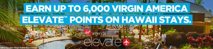 Hilton HHonors Virgin America Up To 6,000 Bonus Elevate Points September 1 - January 31 2016