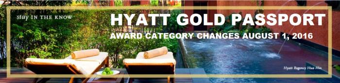 Hyatt Gold Passport Award Category Changes 2016