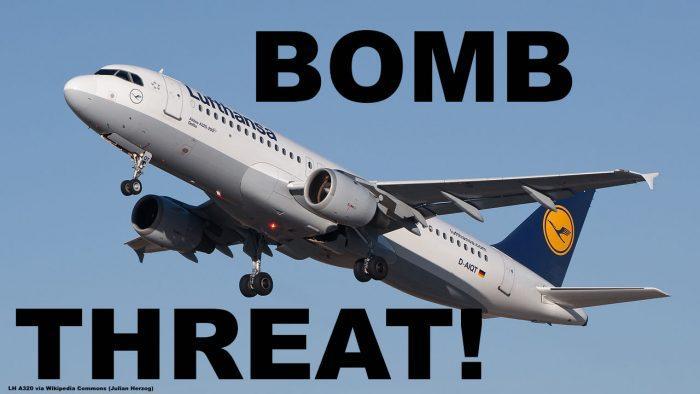 LH A319 BOMB THREAT