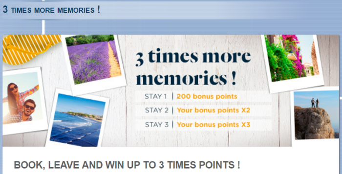 Le Club AccorHotels France Up To Triple Points July 11 - August 31 2016