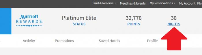 Marriott Rewards Lifetime Points