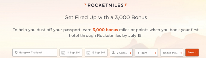 Rcoketmiles 3,000 Bonus Miles First Booking By July 15 2016