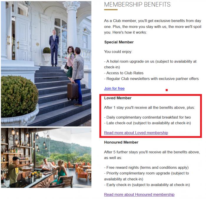 SLH Club Benefits