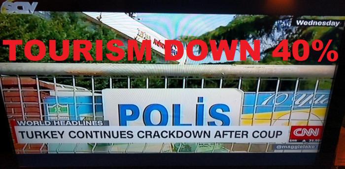 Turkey Tourism Down 40