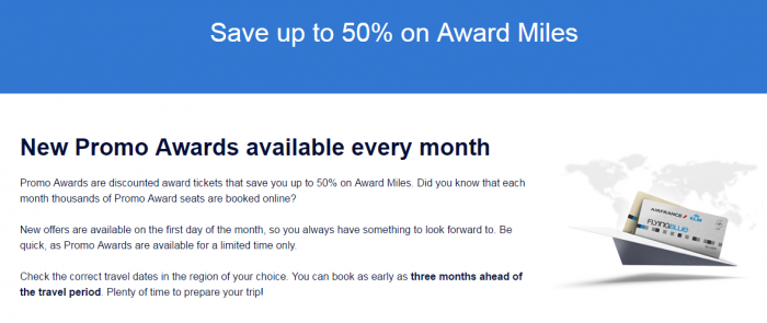 Air France-KLM Flying Blue September 2016 Promo Awards